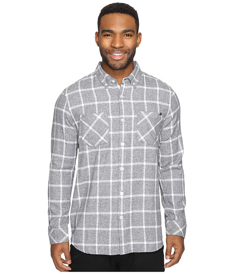 Rip Curl Gridlock Long Sleeve Woven - Charcoal