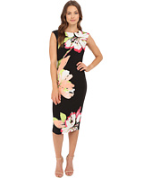 London Times - Lily Pad Jersey Sheath Dress