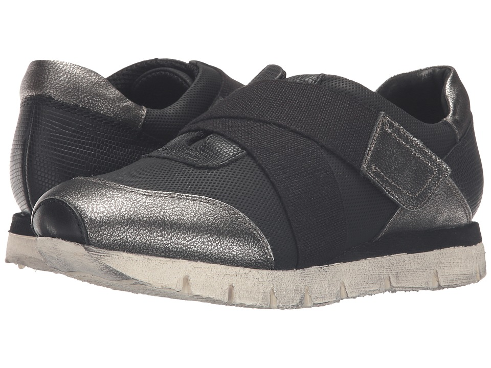 OTBT New Wave (Black/Silver) Women's Hook and Loop Shoes