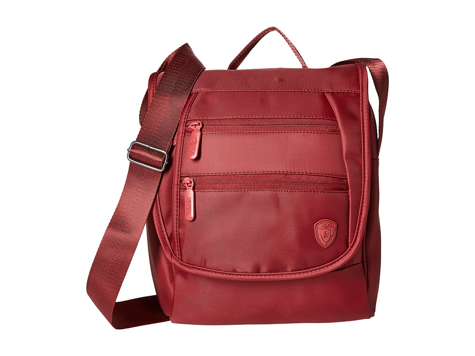 Heys America - Hilite Crossbody Messenger with RFID (Red) Messenger Bags