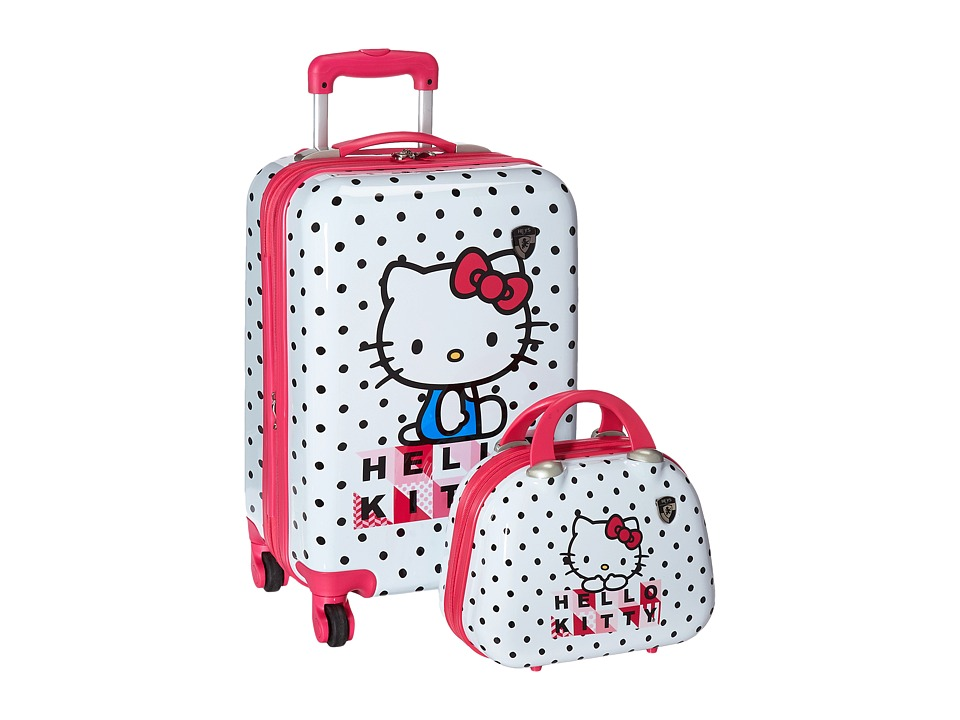 Heys America Hello Kitty 2-Piece Set 21 Carry-On Beauty Case (White) Carry on Luggage