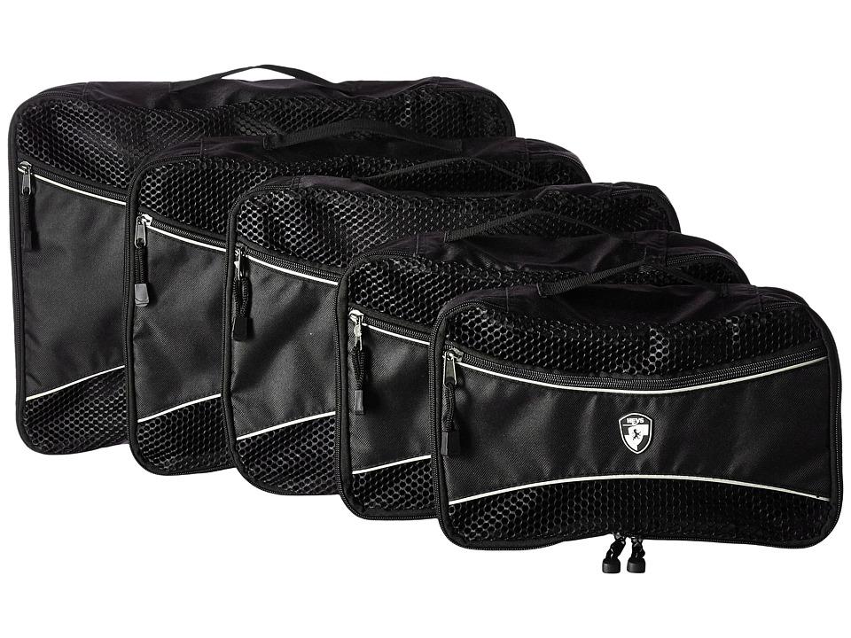 Heys America - Ecotex 5-Piece Packing Cube Set (Black) Luggage