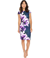Vince Camuto - Printed Scuba Cap Sleeve Body Con Dress