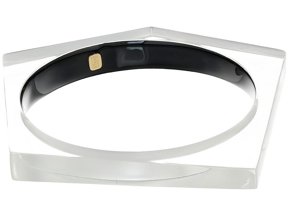 Image of Alexis Bittar - Asymmetrical Pentagon Bangle Bracelet (Silver) Bracelet