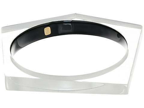 Alexis Bittar Asymmetrical Pentagon Bangle Bracelet - Silver