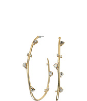 Alexis Bittar - Jagged Crystal Studded Hoop Earrings