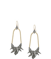 Alexis Bittar - Two-Tone Crystal Encrusted Origami Tear Earrings