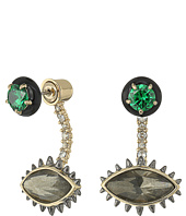 Alexis Bittar - Enamel Framed Stud w/ Spiked Ear Jacket Earrings
