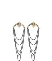 Alexis Bittar - Crystal Encrusted Long Draping Fringe Post Earrings