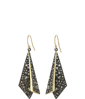 Alexis Bittar - Two-Tone Crystal Encrusted Layered Origami Wire Earrings