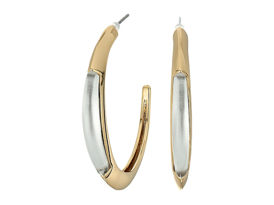 Alexis Bittar - Crescent Hoop Earrings (Ash) Earring