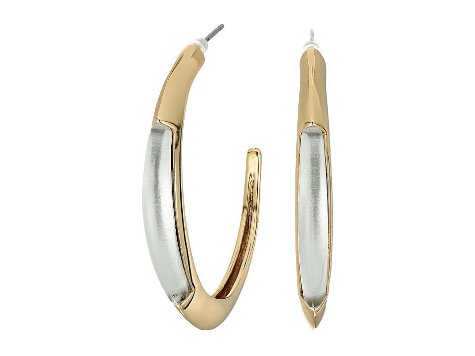Alexis Bittar - Crescent Hoop Earrings (Ash) Earring