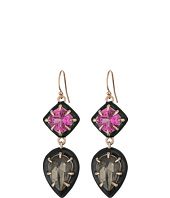 Alexis Bittar - Enamel Framed Custom Gemstone Drop Earrings