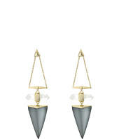 Alexis Bittar - Faceted Rock Crystal Dangling Post Drop Earrings