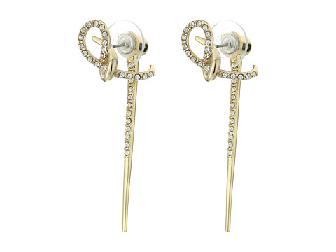 Alexis Bittar Crystal Encrusted Ear Hook w/ Removable Spiked Jacket Earrings