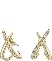 Alexis Bittar - Crystal Encrusted X Huggie Post Earrings
