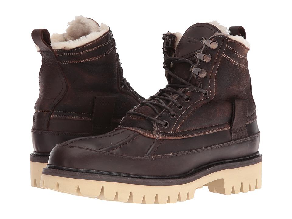rag & bone Spencer Duck Boot (Brown Shearling) Men