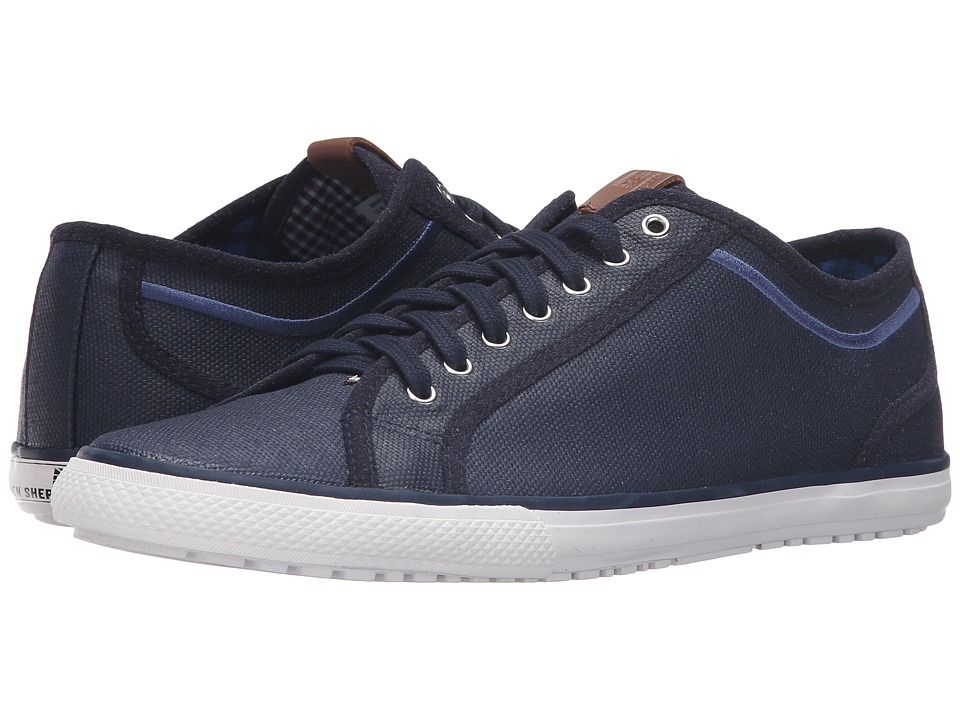 Ben Sherman Chandler Lo Coated Canvas (Navy) Men