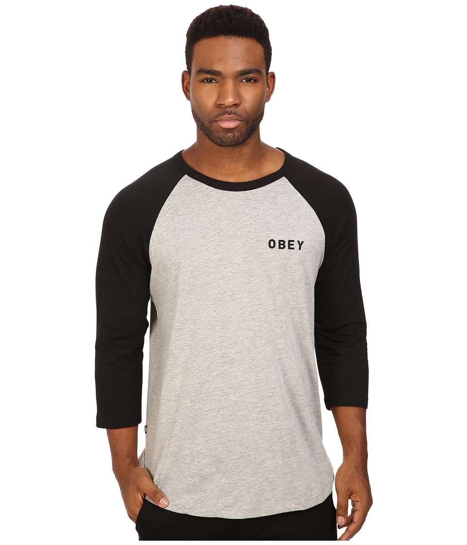 Obey - Afton Raglan Tee (Black) Men