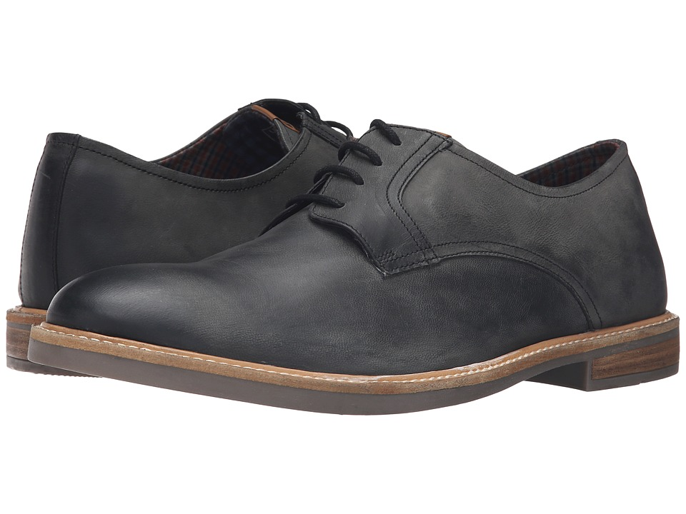 Ben Sherman Birk Plain Toe Distressed (Black) Men