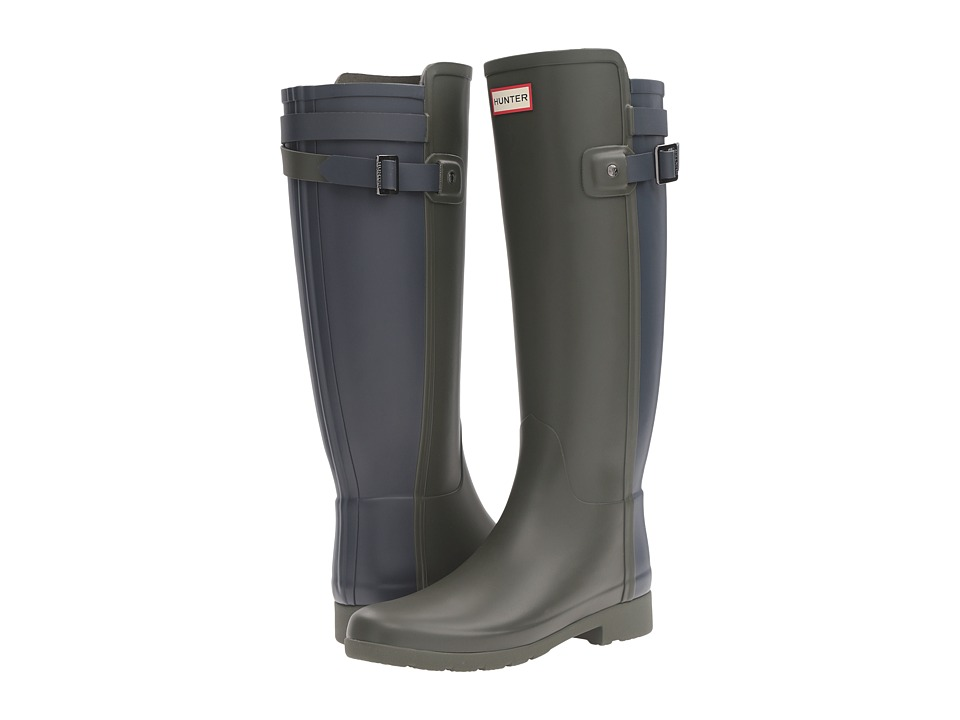 Hunter W Original Tall BT Refin (Dark Olive/Navy) Women