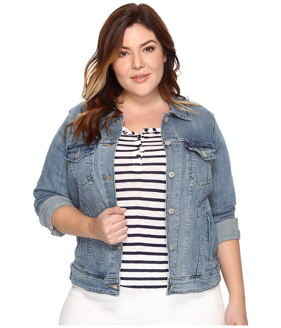 Levis(r) Plus - Trucker Jacket (Ocean Sail) Womens Jacket