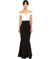 Nicole Miller - Audrey Off Shoulder Color Block Gown