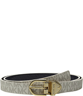 MICHAEL Michael Kors - 25mm Reversible Logo PVC to Patent Monogram Emboss Belt
