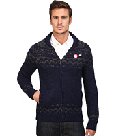 Scotch & Soda - Zip-Thru Cardigan in Chunky Slub Yarn Knit