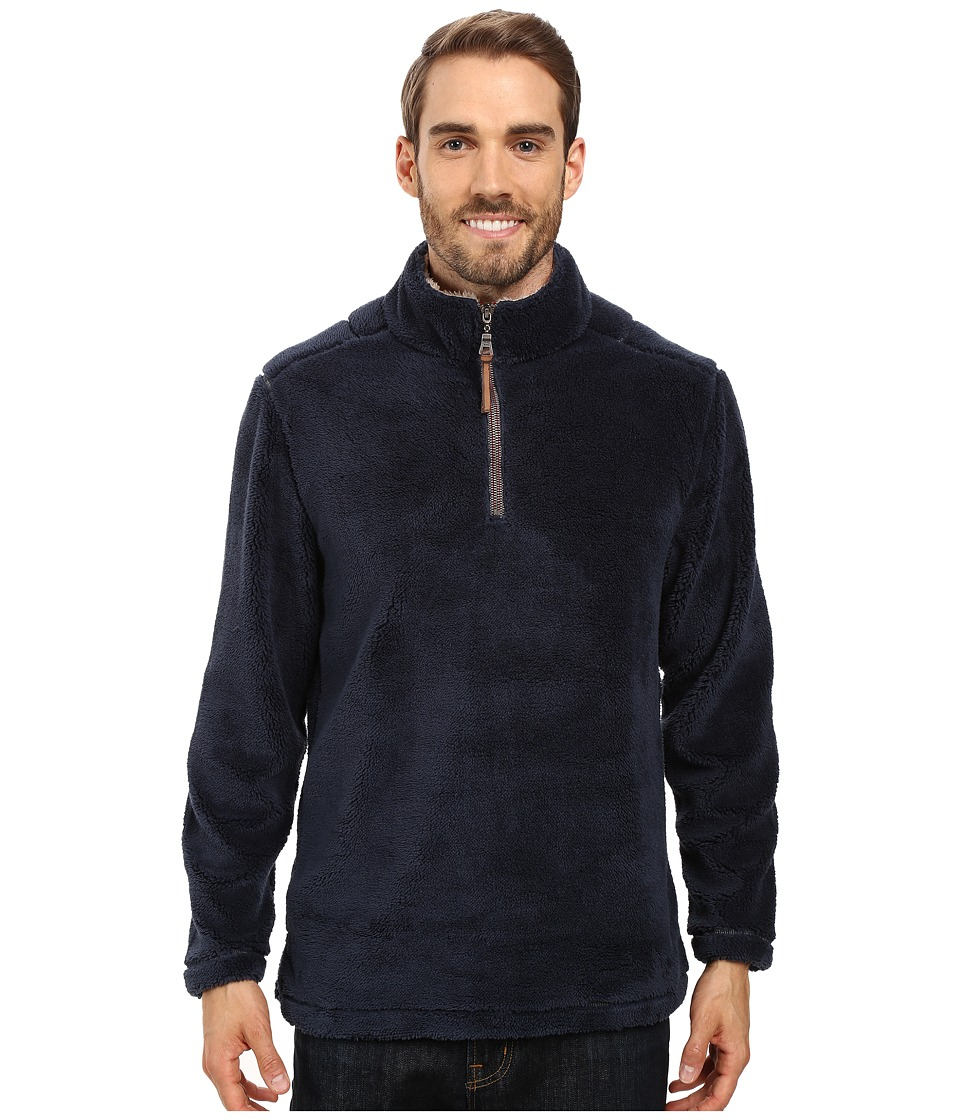 True Grit - Pebble Pile 1/4 Zip Pullover (Vintage Denim) Mens Long Sleeve Pullover