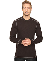 True Grit - Softest Slub Waffle Thermal Long Sleeve Side Panel Crew with Contrast Stitch