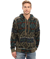 True Grit - Vintage Mesa Cashmere Like Terry Zip Hood Jacket w/ Sherpa Lining