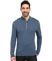 True Grit - Royal Slub Mock Up Henley with Stitch Detail