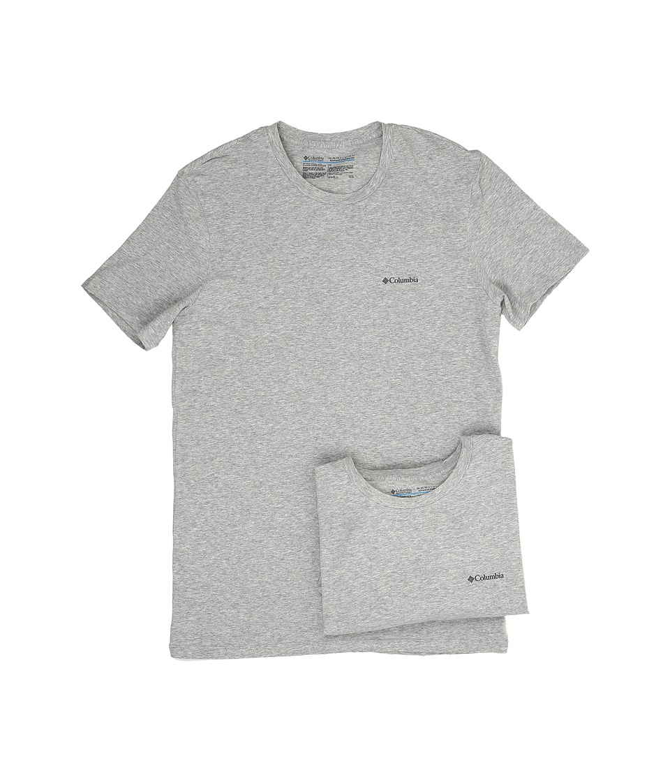 Columbia Cotton Stretch Crew T-Shirt 2-Pack (Grey Heather) Men