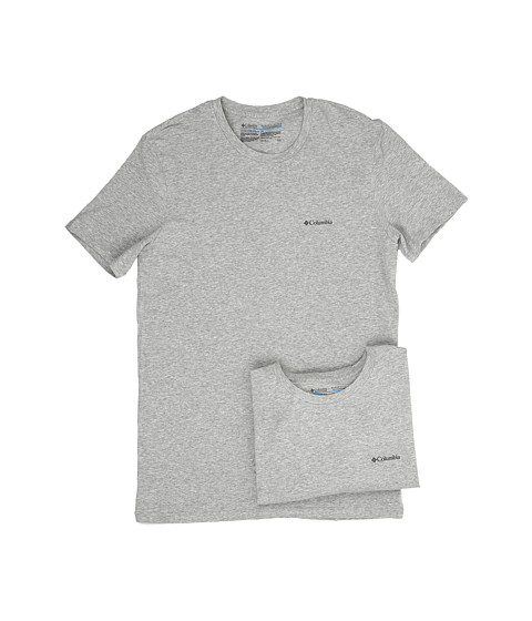 Columbia Cotton Stretch Crew T-Shirt 2-Pack - Grey Heather