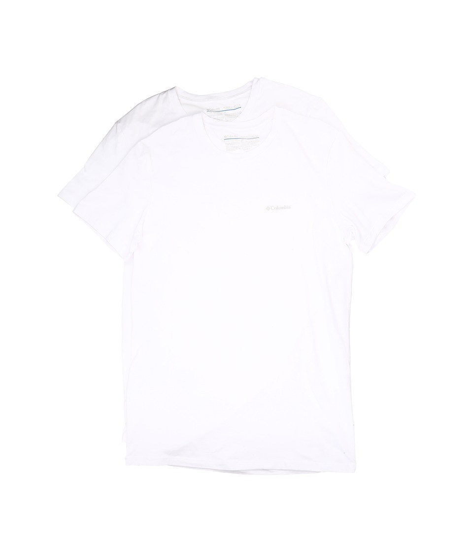 Columbia Cotton Stretch Crew T-Shirt 2-Pack (White) Men