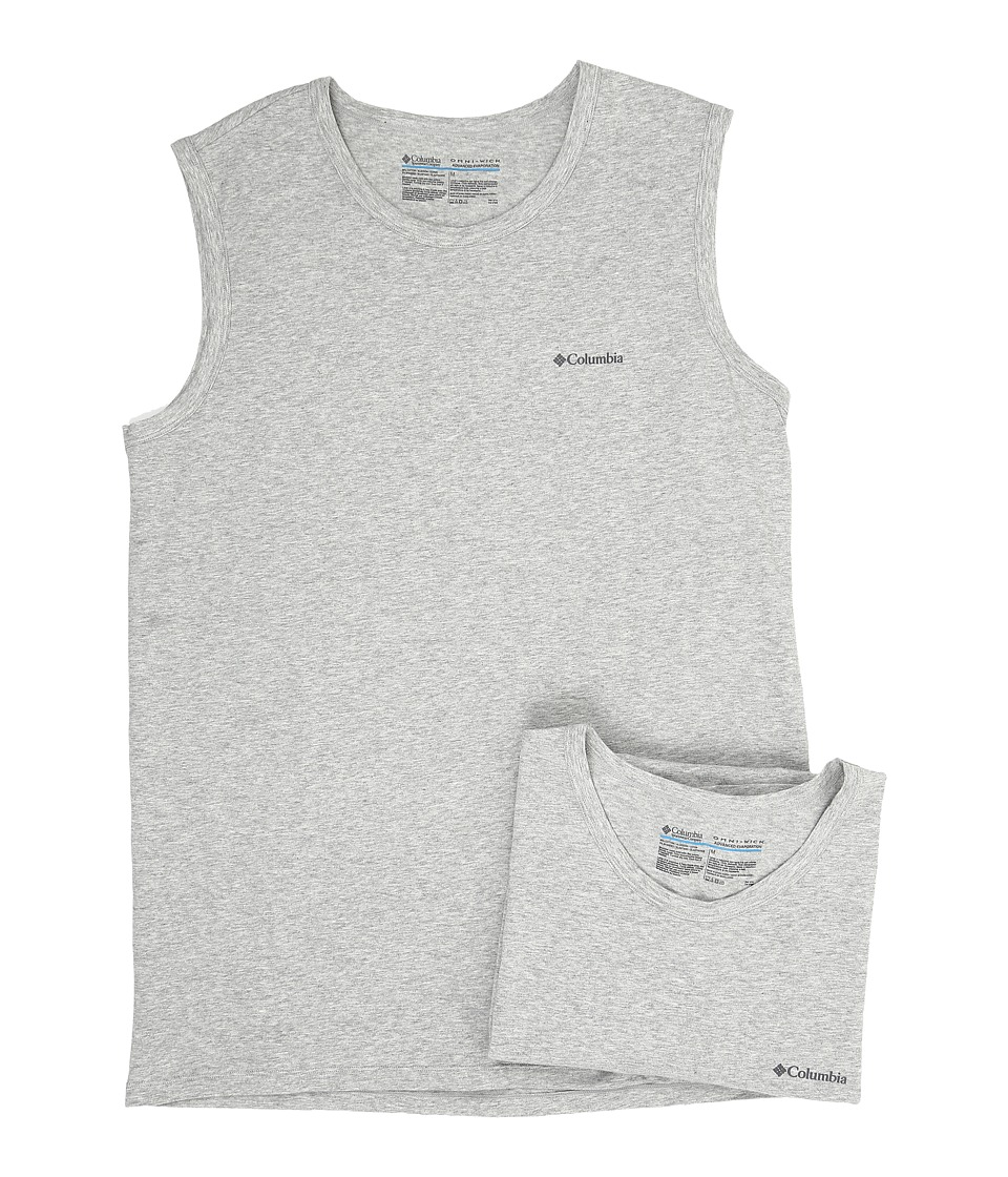 Columbia Cotton Stretch Muscle T-Shirt 2-Pack (Grey Heather) Men