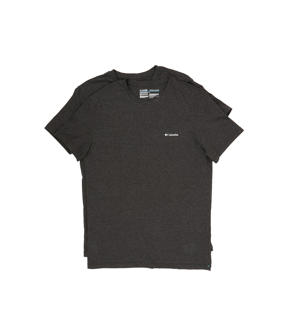 Columbia Performance Cotton Crew T-Shirt 2-Pack (Black Charcoal) Men