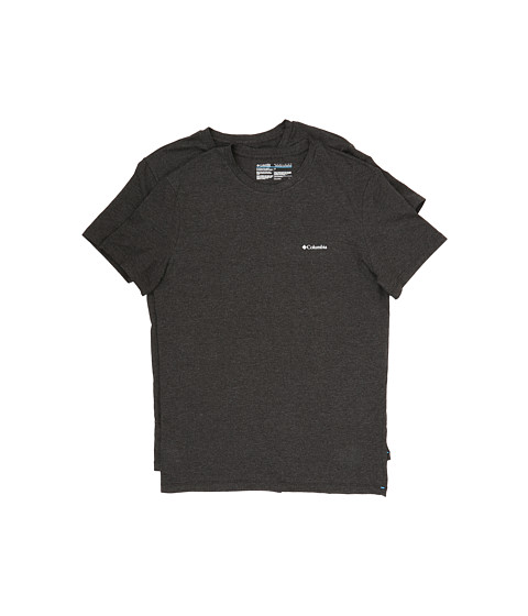 Columbia Performance Cotton Crew T-Shirt 2-Pack - Black Charcoal
