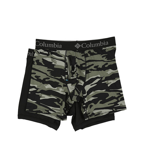 Columbia Performance Stretch Boxer Briefs 2-Pack - Camo 1/Beetle
