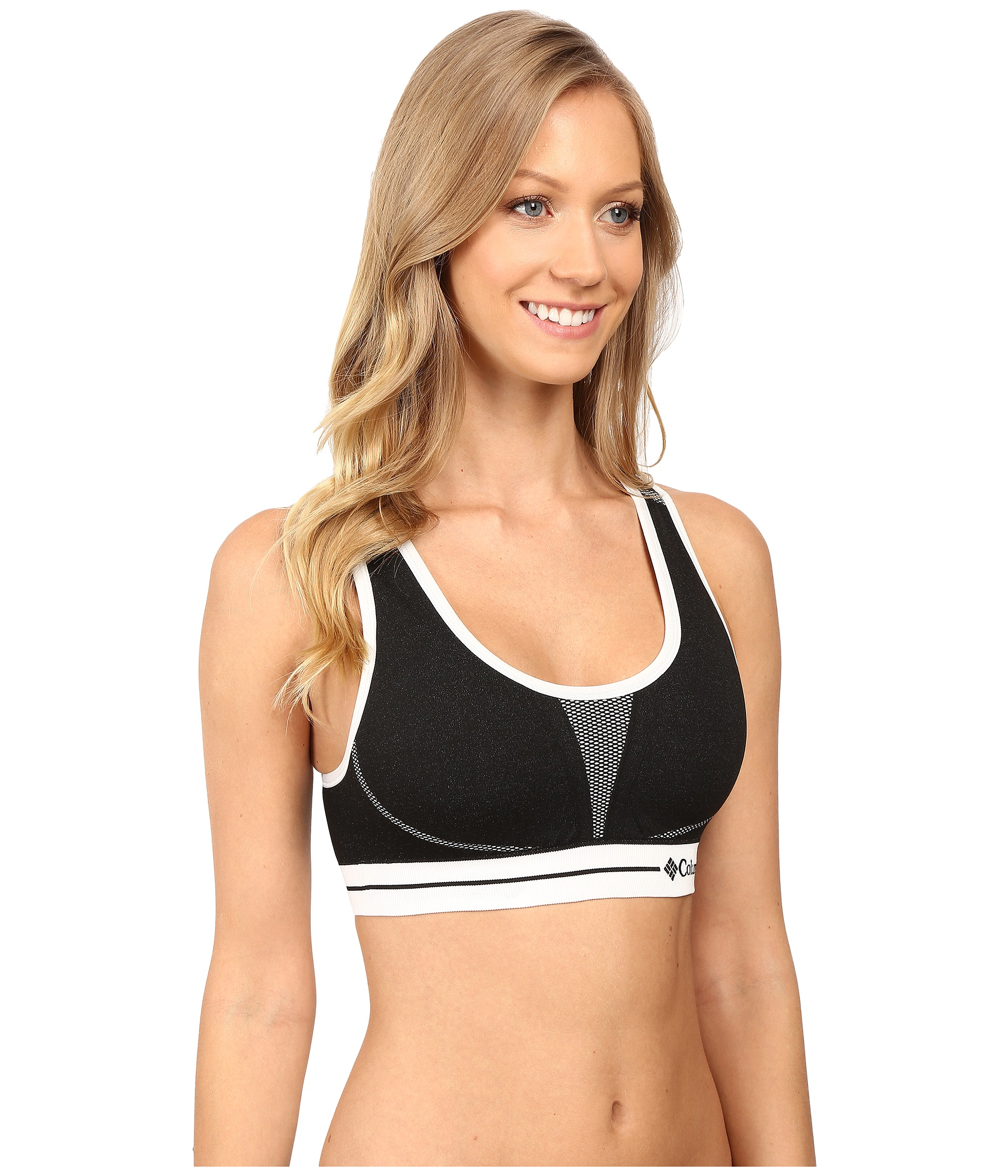 Basic, stretchy pullover sports bras and shelf bras tend to do the trick. Women with smaller cup sizes typically don't require more support than what a low-impact bra provides. Medium-impact sports such as hiking, skiing, and cycling can lead to more bouncing and discomfort without a proper sports bra.