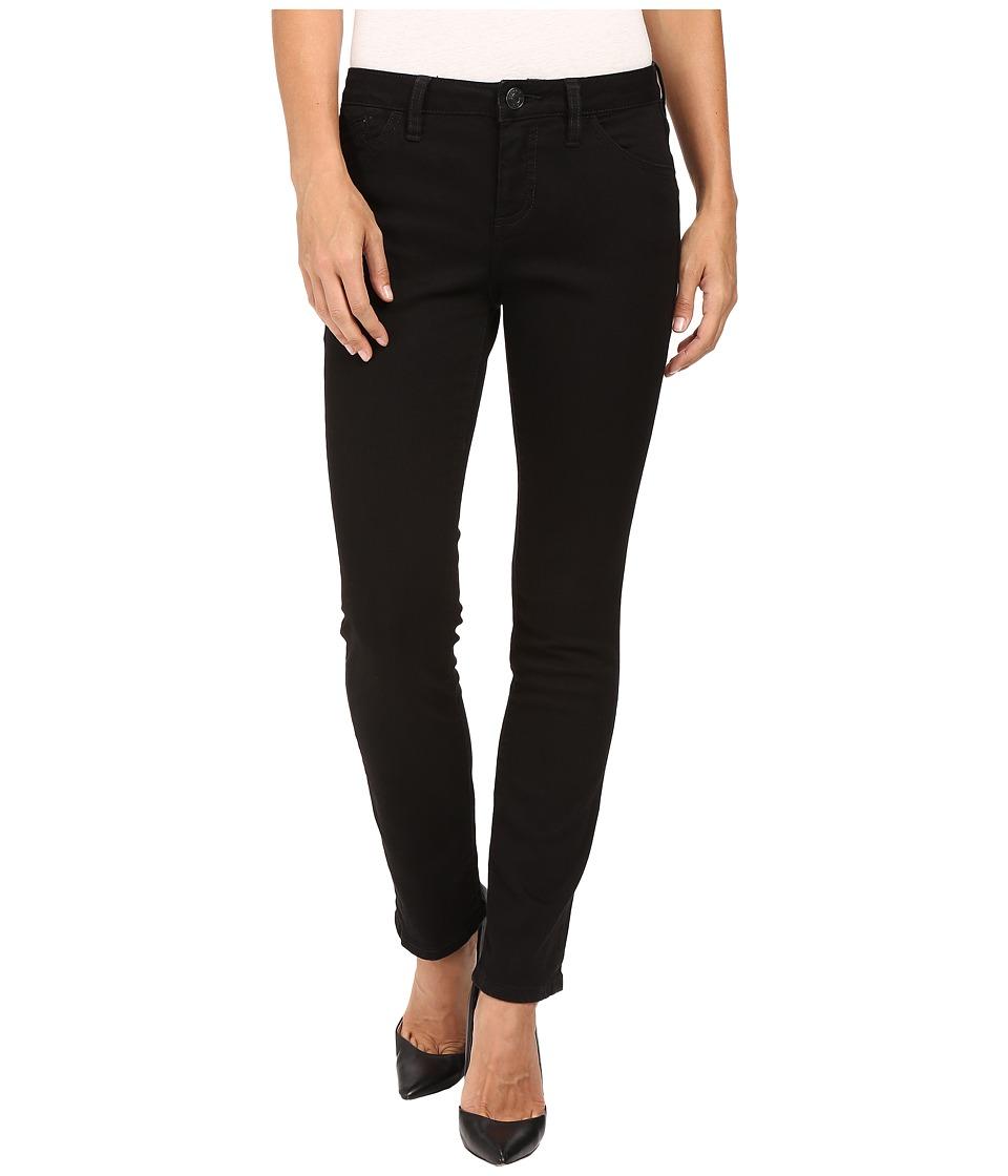 Jag Jeans Petite Petite Portia Straight in Platinum Denim in Black (Black) Women