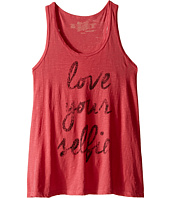 The Original Retro Brand Kids - Love Your Selfie Racerback Tank Top (Big Kids)