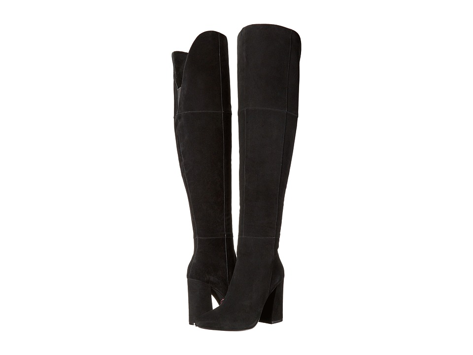 Kristin Cavallari Saffron Over the Knee Boot (Black) Women