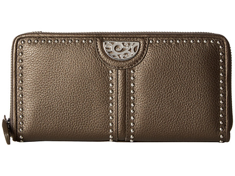Brighton Pretty Tough Large Zip Wallet - Pewter
