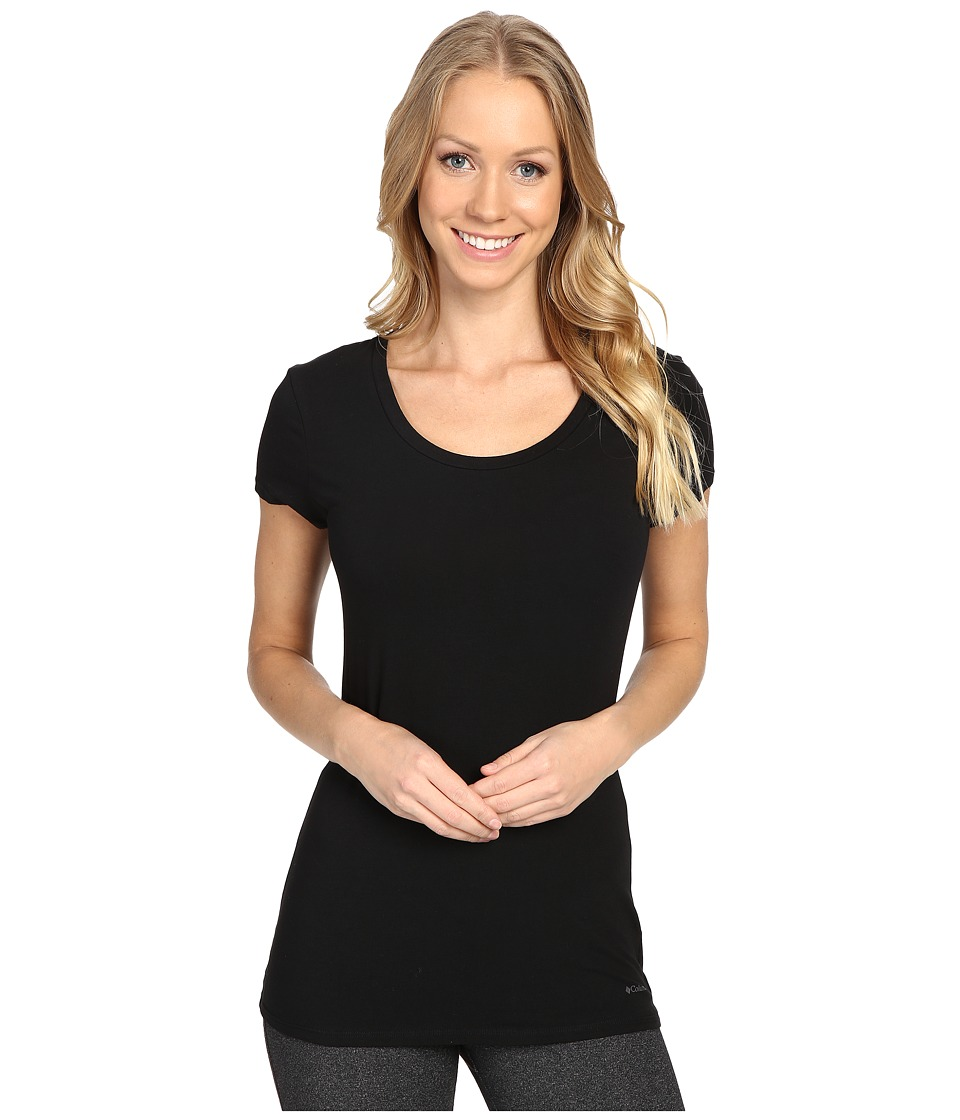 Columbia Cotton Stretch T-Shirt (Black) Women