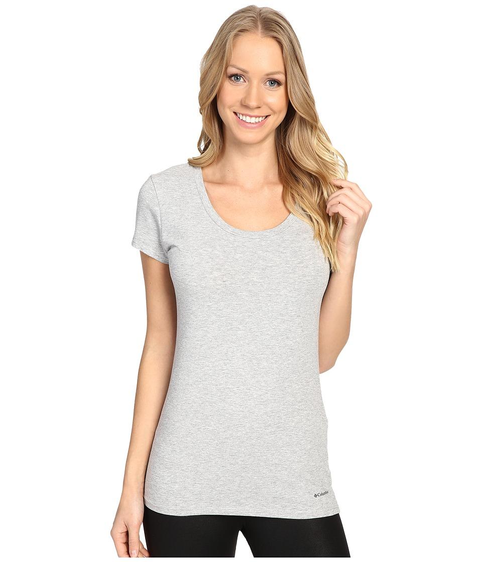 Columbia - Cotton Stretch T-Shirt (Grey Heather) Women