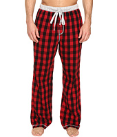 True Grit - Vintage Flannel Buffalo Check Flannel Pants with Heather Knit Trim