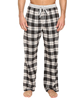 True Grit - Vintage Flannel Whiskey Check Flannel Pants with Heather Knit Trim