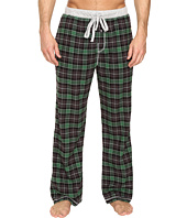 True Grit - Vintage Flannel Bowery Check Flannel Pants with Heather Knit Trim